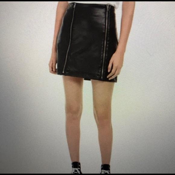 love, Fire Dresses & Skirts - Juniors Faux-Leather Zipper Mini Skirt